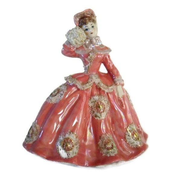 Ceramic Victorian Lady Figurine by Juanita Gilbert